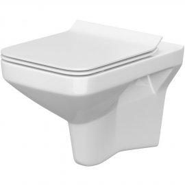 Miska WC podwieszana COMO NEW prostokątna deska duroplast antybakt wolnoopad łatwe wyp