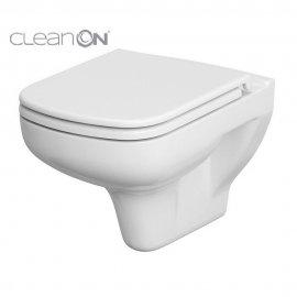 Miska WC podwieszana COLOUR prostokątna deska duraplastowa antybakt wolnoopad łatwe wyp
