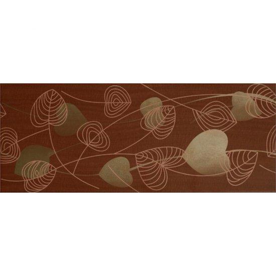 Płytka ścienna inserto OXIA brown glossy 20x50 gat. I