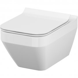 Miska WC podwieszana SET 907 MZ CREA NEW CO prostokątna deska slim