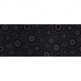 Płytka ścienna SYNTHIA czarna inserto koła błyszcząca 20x50 gat. I