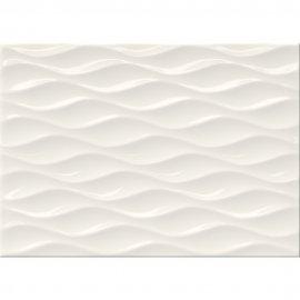Płytka ścienna TANIA white structure glossy 25x35 gat. II
