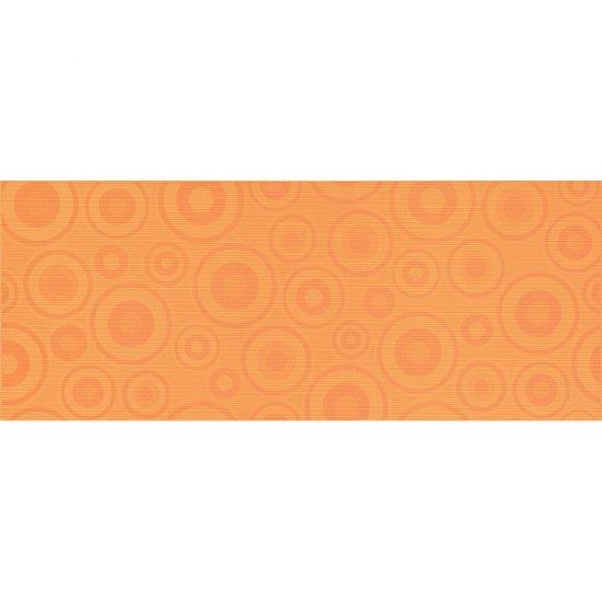 Płytka ścienna inserto SYNTHIA orange koła glossy 20x50 gat. I