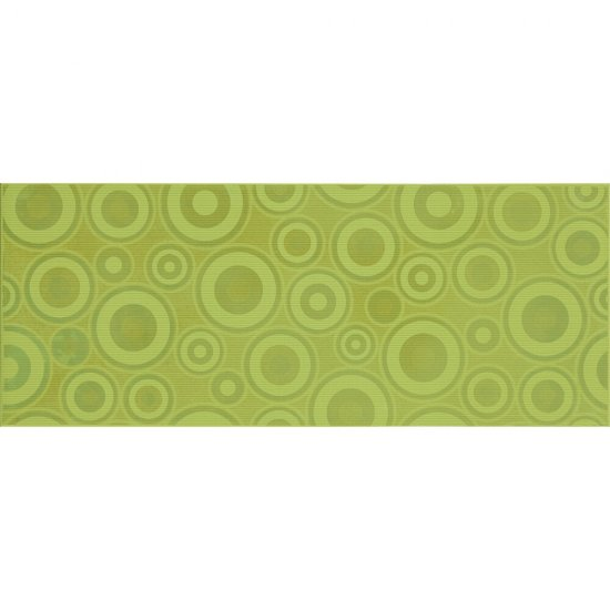 Płytka ścienna inserto SYNTHIA verde koła glossy 20x50 gat. I