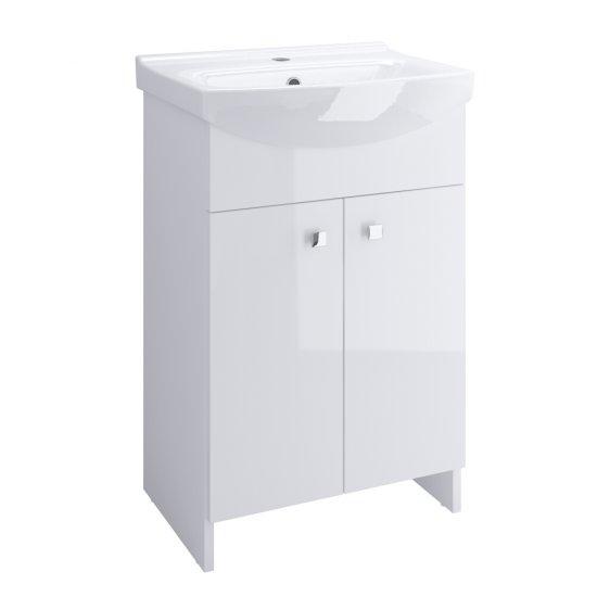 Szafka z umywalką w zestawie SATI CERSANIA 60 biała