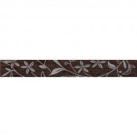 Płytka ścienna listwa TANAKA brown flower mat 5x40 gat. I