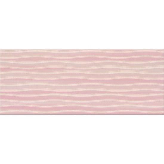 Płytka ścienna inserto BUGI pink geometric glossy 20x50 gat. I