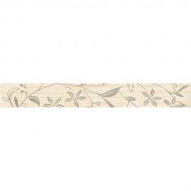 Płytka ścienna listwa TANAKA cream flower mat 5x40 gat. I