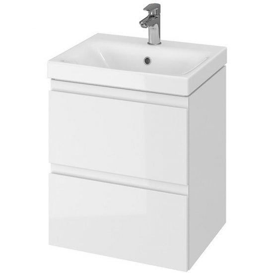 Szafka z umywalką w zestawie 973 MODUO 50 biała DSM