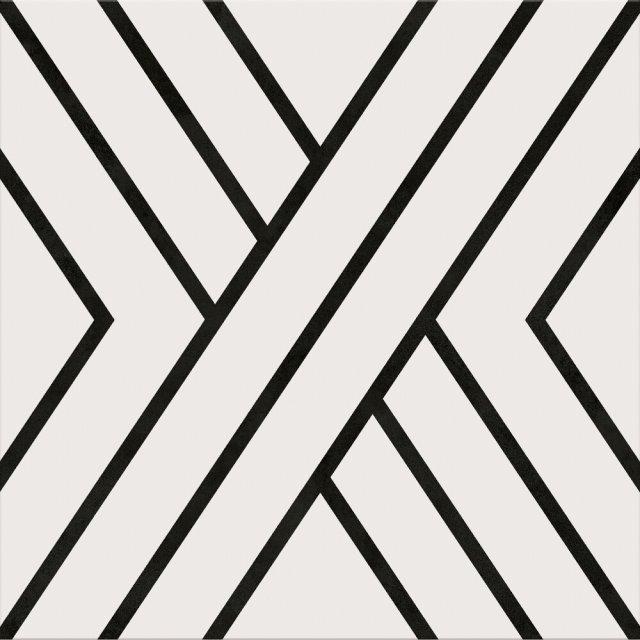 Gres szkliwiony BLACK LINES 29,8x29,8 gat. II Cersanit