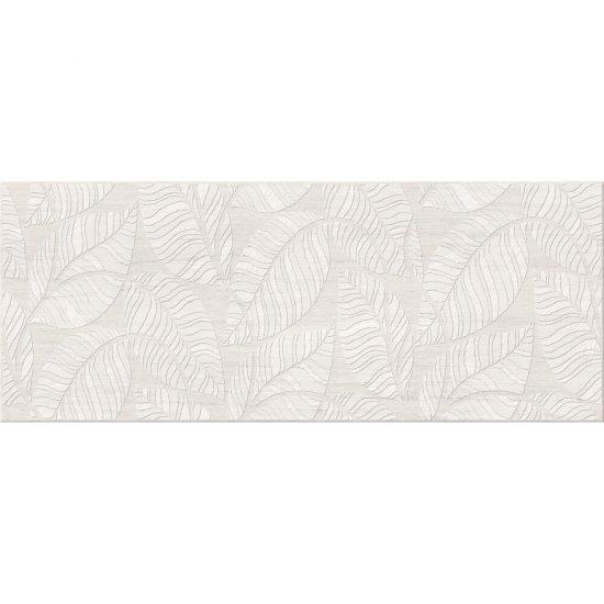 Płytka ścienna inserto LIVI cream leaf mat 20x50 gat. I
