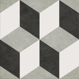 Gres szkliwiony PANEL GEO white-black 29,8x29,8 gat. II
