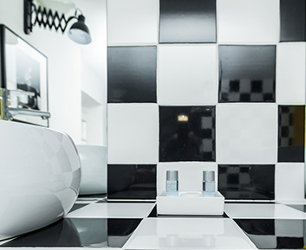 Łazienka w stylu black&white